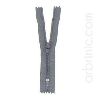 Nylon finished zipper Concrete Grey