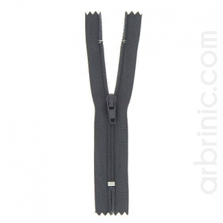 Nylon finished zipper Brown Grey