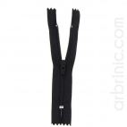 Nylon finished zipper 10cm Black
