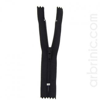 Fermeture fine nylon non séparable Noir