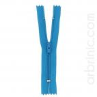 Nylon finished zipper 10cm Turquoise