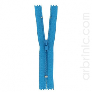 Nylon finished zipper Turquoise