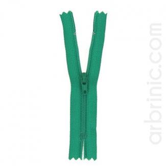 Fermeture fine nylon non séparable Vert Trèfle