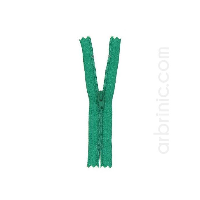 Fermeture fine nylon NS 10cm Vert Trèfle