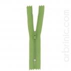 Fermeture fine nylon NS 10cm Vert Mousse
