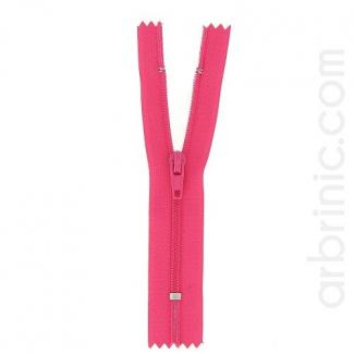 Fermeture fine nylon non séparable Rose Flashy