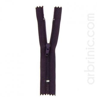 Nylon finished zipper 10cm Dark Plum