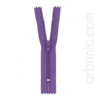 Nylon finished zipper 10cm Purple