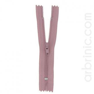 Nylon finished zipper Antique Pink