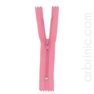 Nylon finished zipper Princess Pink
