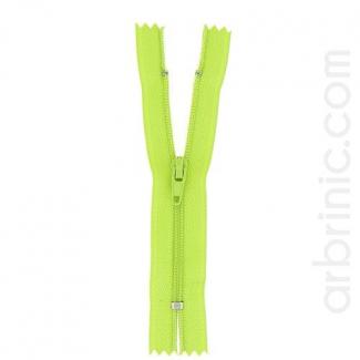 Nylon finished zipper 10cm Lime Green