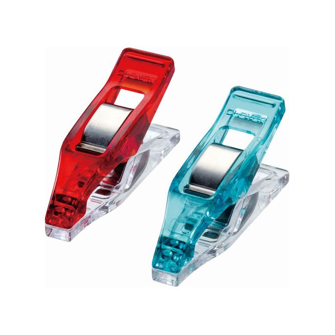 Pinces Prodige Mini CLOVER rouge/bleu (20 pinces)