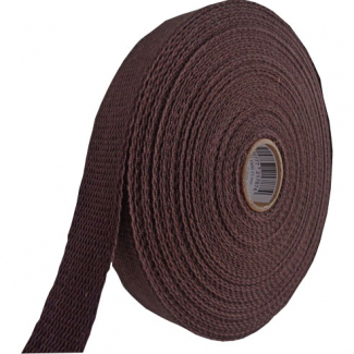 Cotton Webbing 30mm Chocolate (15m roll)