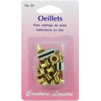 Eyelets 10mm Gold with tool (x20)
