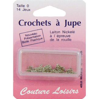 Crochets à jupe Taille 0 Couleur Nickel (14 jeux)