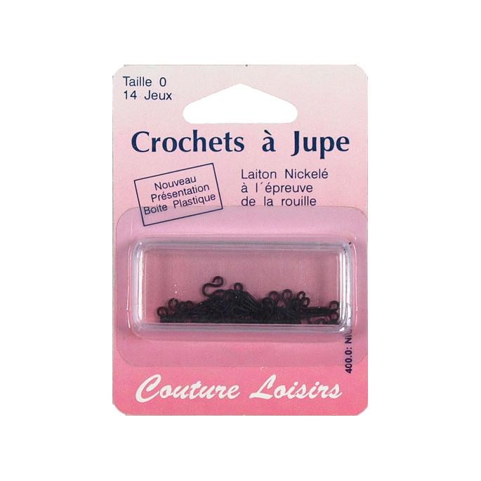 Crochets à jupe Taille 0 Couleur Noir (14 jeux)