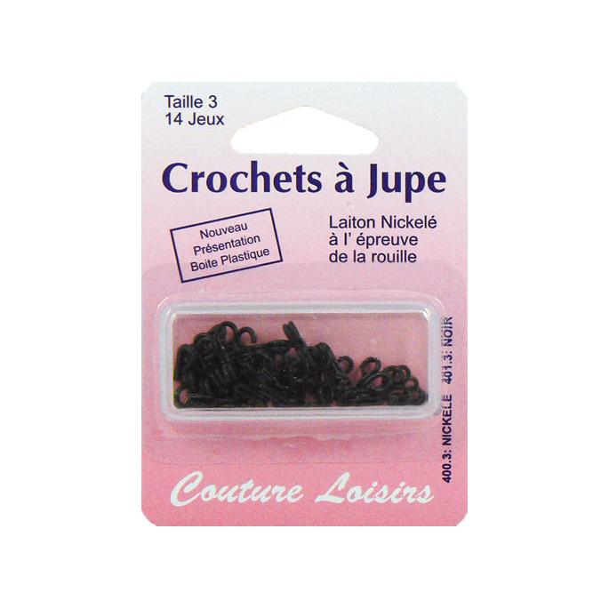 Crochets à jupe Taille 3 Couleur Noir (14 jeux)
