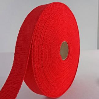 Sangle coton 30mm Rouge (au mètre)