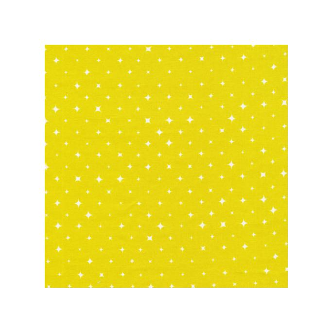 Organic cotton print Oasis Citron Stars Cloud9 (per 10cm)