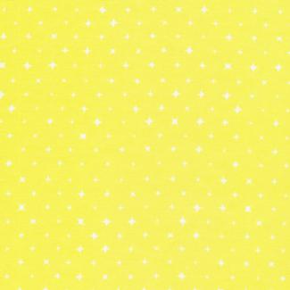 Coton Bio imprimé Etoiles Jaune Aurore Cloud9 (par 10cm)