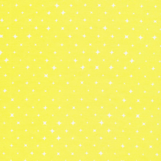 Organic cotton print Aura Yellow Stars Cloud9
