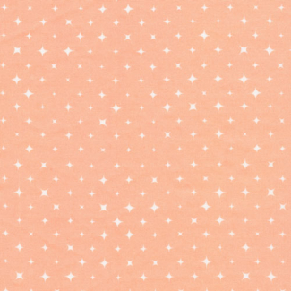 Organic cotton print Fresh Coral Stars Cloud9