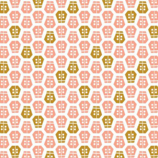 Organic cotton print Vignette Ladybug Cloud9