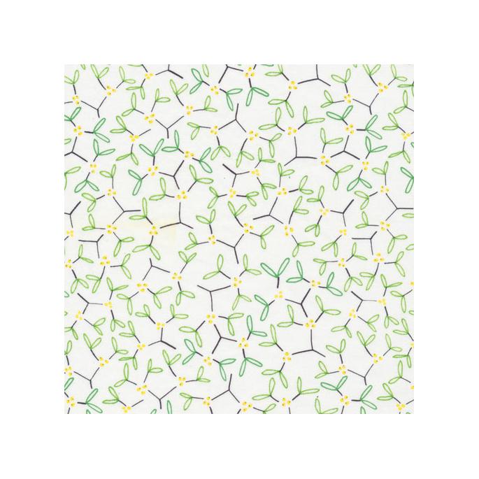 Coton Bio imprimé Festive Mistletoe Cloud9 (par 10cm)