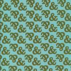 Organic cotton print Typography Ampersand Cloud9 (per 10