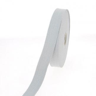 Sangle coton 23mm Gris clair (au mètre)