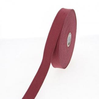 Sangle coton 23mm Bordeaux (au mètre)