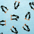Suédine - Pingouins (50x148)