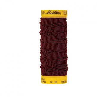 Fil à coudre élastique Mettler 1000m Bordeaux (10m)