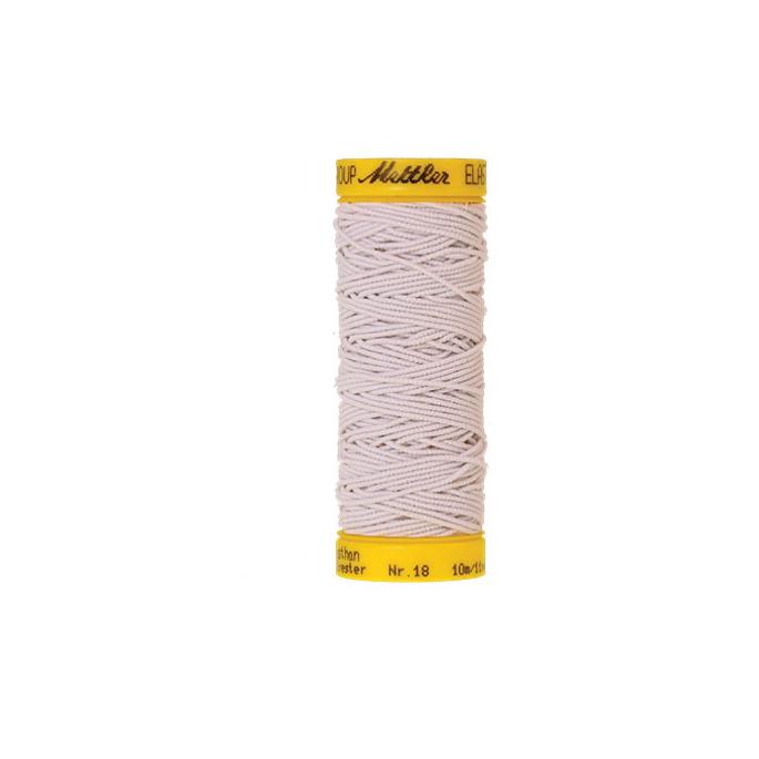 Mettler Elastic Sewing Thread White (10m)