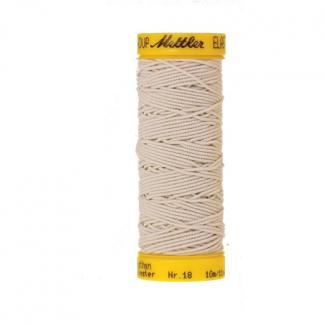 Fil à coudre élastique Mettler 1000m Ecru (10m)