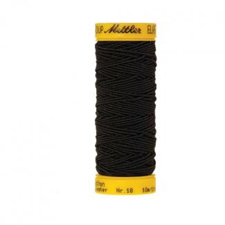 Fil à coudre élastique Mettler 1000m Noir (10m)