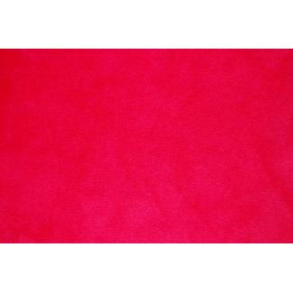 Minky Rouge- au mètre-(laize 150cm)