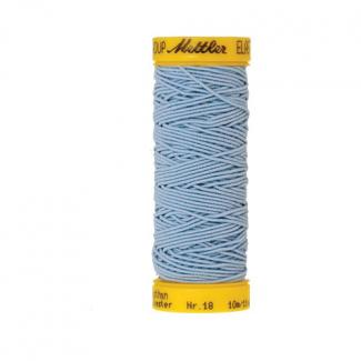 Fil à coudre élastique Mettler 1000m Bleu Clair (10m)