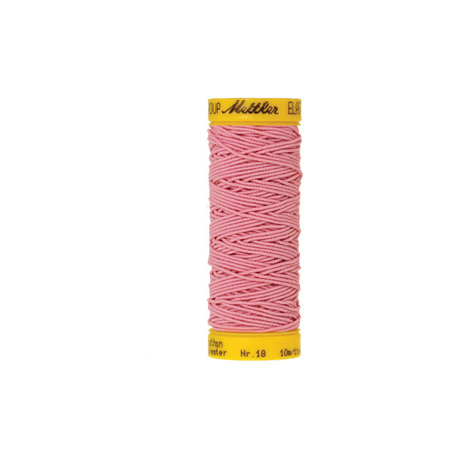 Mettler Elastic Sewing Thread Pink (10m)