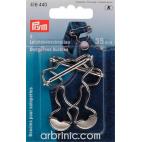 Boucles de salopette PRYM métal 35mm Argent (x2)