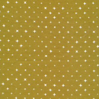 Organic cotton print Ember Gold Stars Cloud9