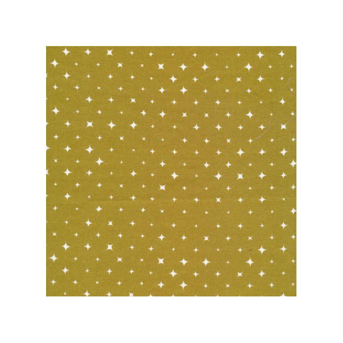 Coton Bio imprimé Etoiles Ember Gold Cloud9 (par 10cm)
