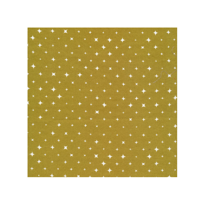 Organic cotton print Ember Gold Stars Cloud9 (per 10cm)