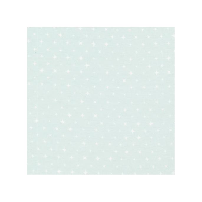 Organic cotton print Breeze Light Green Stars Cloud9 (per 10cm)