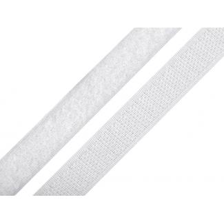 Scratch 3.0cm BOUCLE et CROCHET Blanc (au mètre)