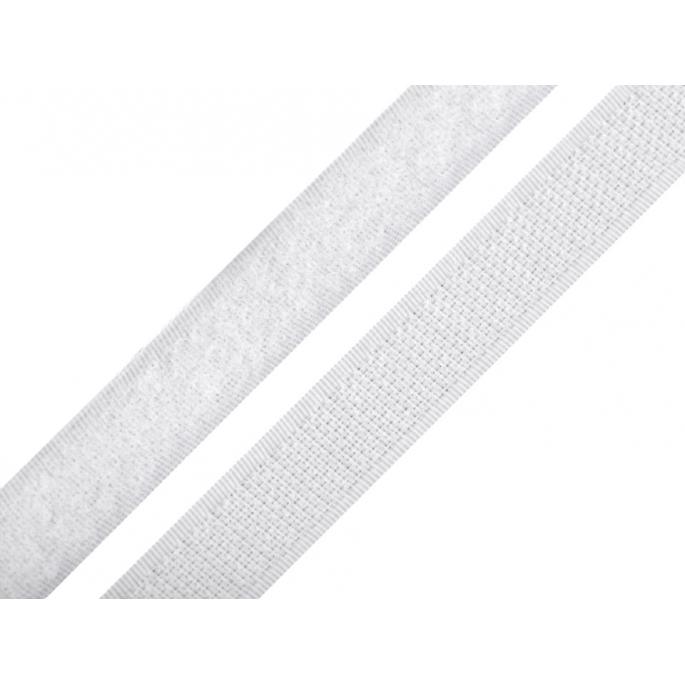 Scratch 3.0cm HOOK & LOOP White (per meter)