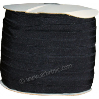 Fold Over Elastic 1 inch Black (100m roll)