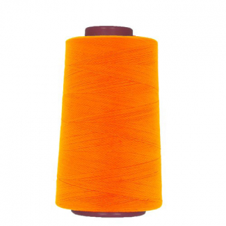 Polyester Serger and sewing Thread Cone (4573m) Neon Orange