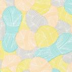 Organic cotton Broadcloth Wound Up Yarnies Yellow Cloud9 (per 10