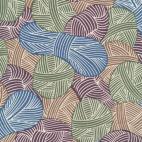 Organic cotton Broadcloth Wound Up Yarnies Khaki Cloud9 (per 10